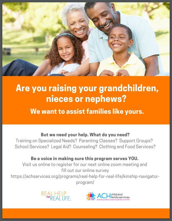 New Program at ACH Child and Family Services for Kinship Families