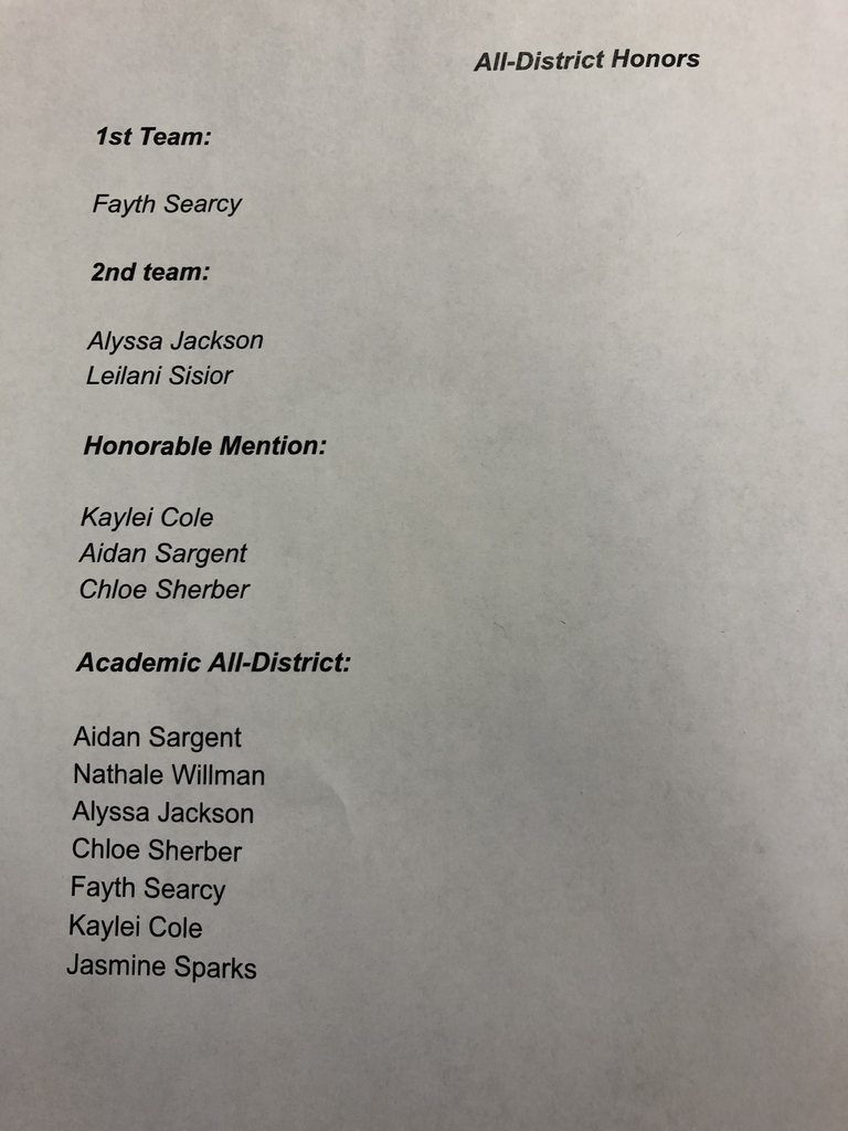 Congrats to these young ladies for there recognition for 2019-20 Basketball Season!! Great job ladies!!